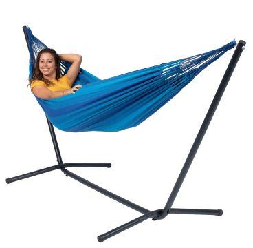 Easy & Dream Blue Cama de Rede para 1 pessoa com suporte