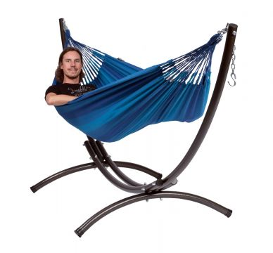 Arc & Dream Blue Cama de Rede para 1 pessoa com suporte