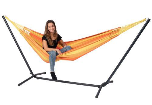 Easy & Dream Orange Cama de Rede para 1 pessoa com suporte
