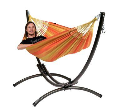 Arc & Dream Orange Cama de Rede para 1 pessoa com suporte