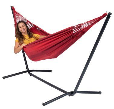 Easy & Dream Red Cama de Rede para 1 pessoa com suporte
