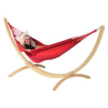Wood & Dream Red Cama de Rede para 1 pessoa com suporte