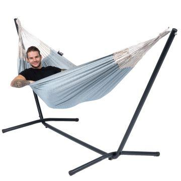 Easy & Natural Blue Cama de Rede para 1 pessoa com suporte