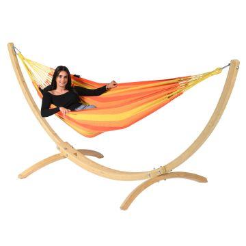 Wood & Dream Orange Cama de Rede para 1 pessoa com suporte