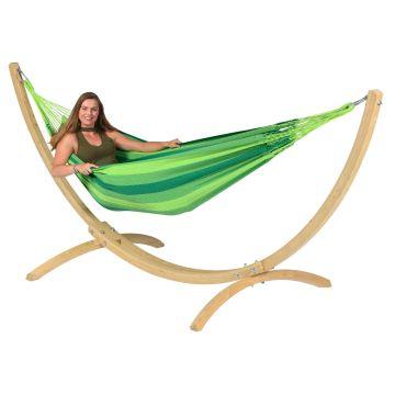 Wood & Dream Green Cama de Rede para 1 pessoa com suporte
